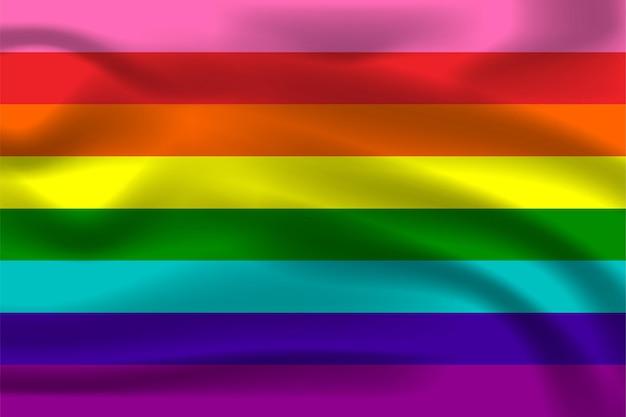 Regenbogen-stolz-flagge für lgbtq-freie vektorillustration