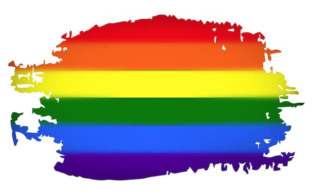 Regenbogenfahne lgbt-gemeinschaft, illustration lokalisiert auf weißem hintergrund.