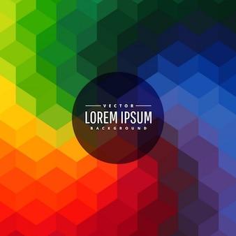 Regenbogenfarben abstrakten geometrischen formen hintergrund
