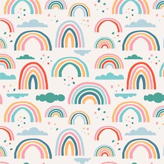 Regenbogenmuster-design Kostenlosen Vektoren