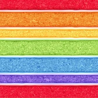 Regenbogenschwammkuchenhintergrund. bunte nahtlose textur.