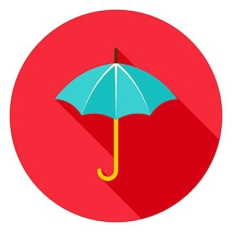 Regenschirm-kreis-symbol. vektor-illustration. accessor für regenwetter.