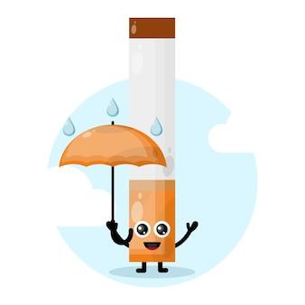 Regenschirm zigaretten maskottchen charakter logo