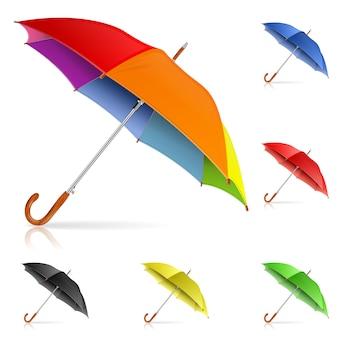 Regenschirme einstellen
