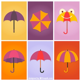 Regenschirme sammlung