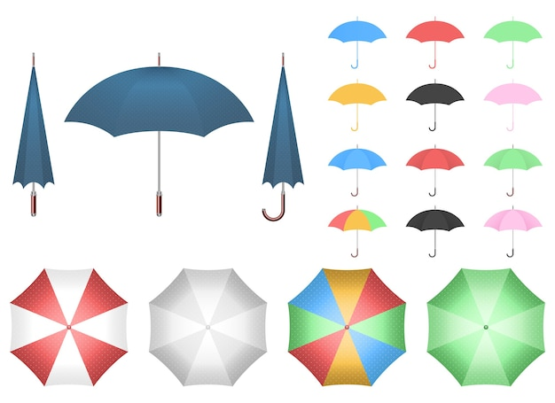 Regenschirmvektorentwurfsillustration lokalisiert auf weißem hintergrund