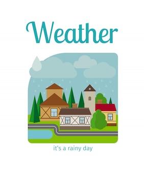 Regenwetter in der stadt