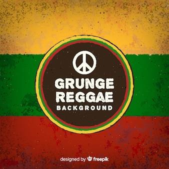 Reggae-art hintergrund mit friedenszeichen