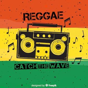 Reggae-art hintergrund mit musik