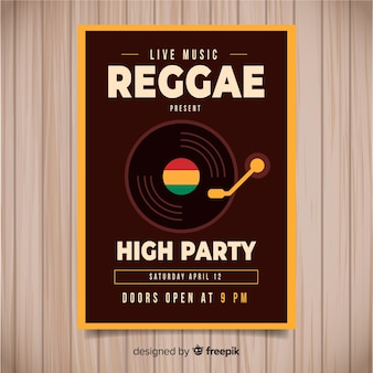 Reggae-party-flyer