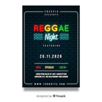 Reggae party nacht flyer