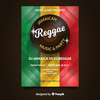 Reggae party nacht flyer