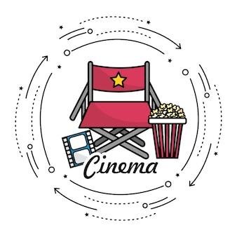 Regiestuhl mit kinematografie
