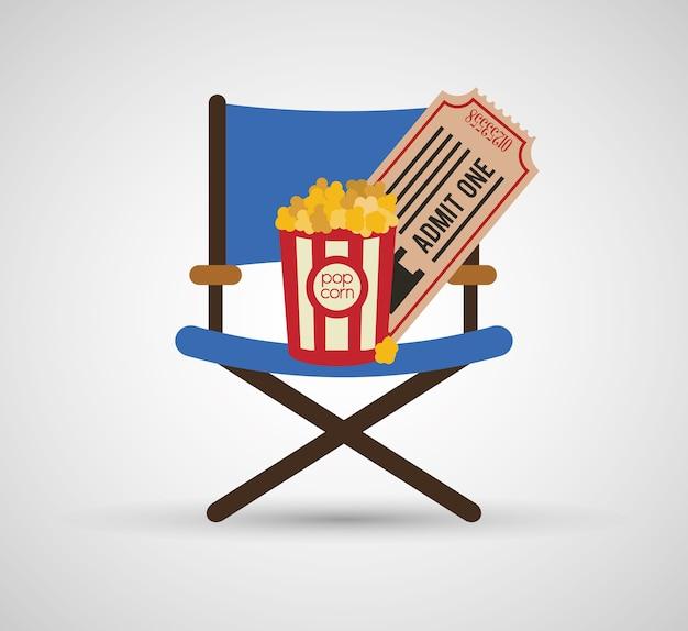 Regisseur stuhl popcorn ticket kino