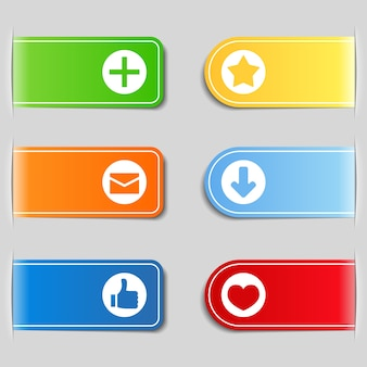 Registerkarten mit symbolen