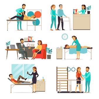 Rehabilitations- und therapieset Kostenlosen Vektoren