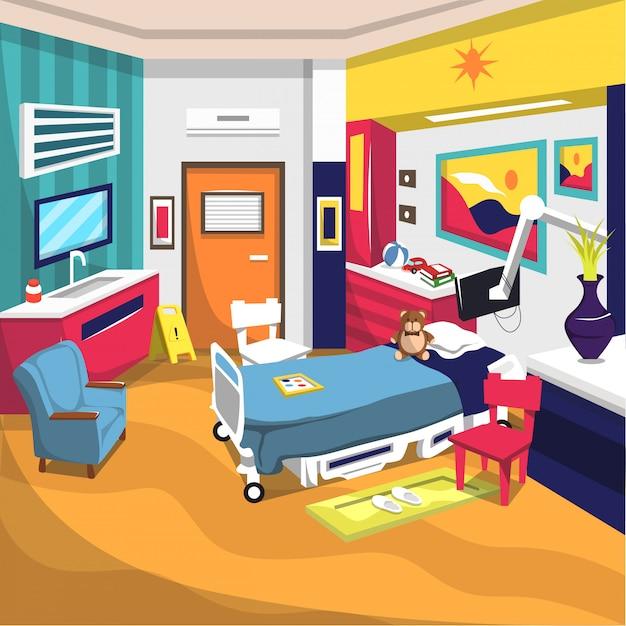 Rehabilitationsraum für kinder im krankenhaus