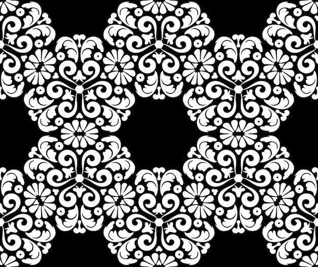 Reiche florale nahtlose muster im vintage-stil blühende viktorianische ornamentdekorative verzierte textur