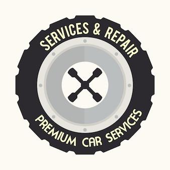 Reifen-design über weißer hintergrundvektorillustration