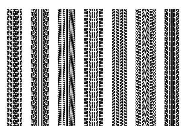 Reifenspuren vektor-design-illustration auf hintergrund isoliert
