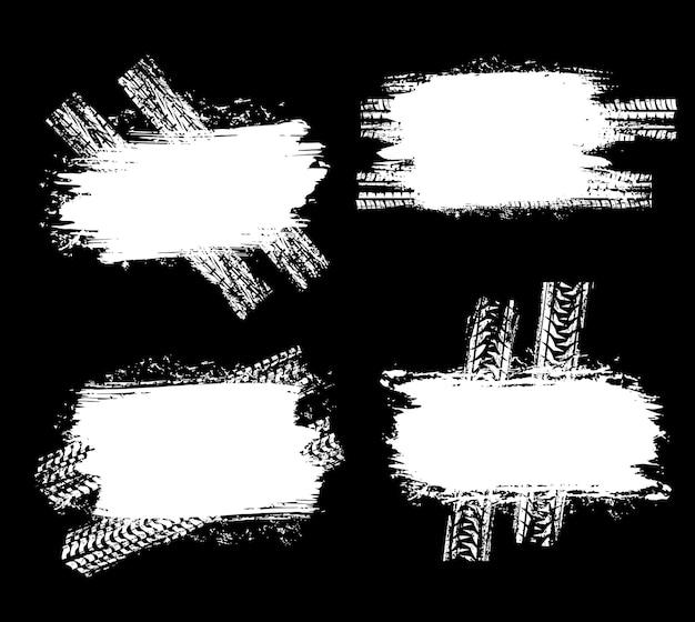 Reifenspuren von pkw- oder lkw-reifenspuren