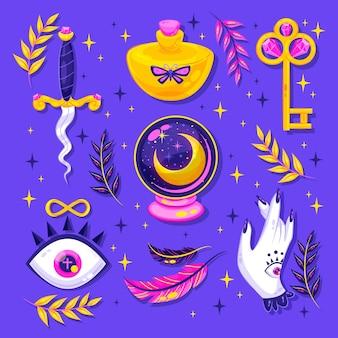Reihe interessanter esoterischer elemente