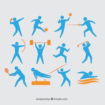 Reihe von athleten