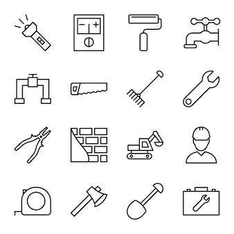 Reihe von bau-icons