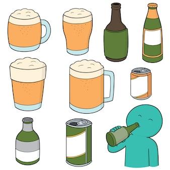 Reihe von bieren