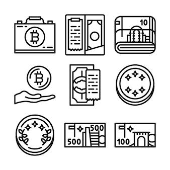 Reihe von blockchain icons