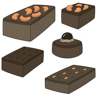 Reihe von brownie