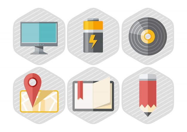 Reihe von büro-icons