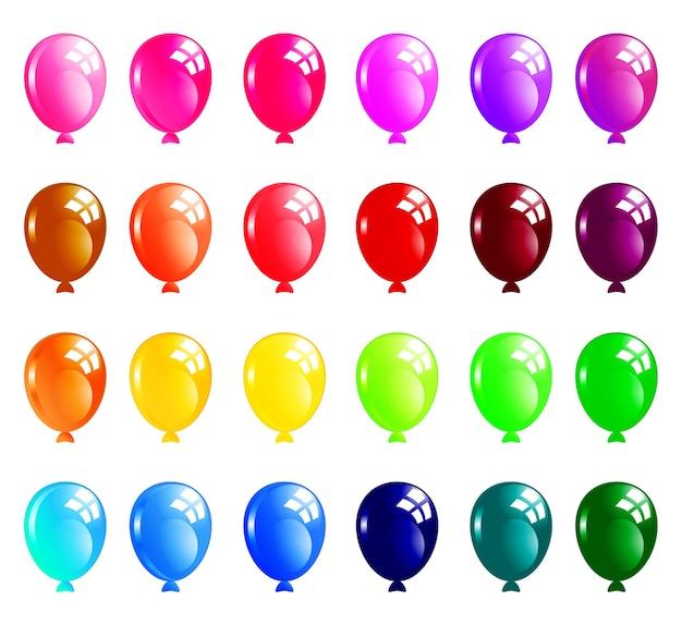 Reihe von bunten luftballons