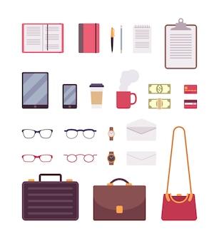 Reihe von business-elementen