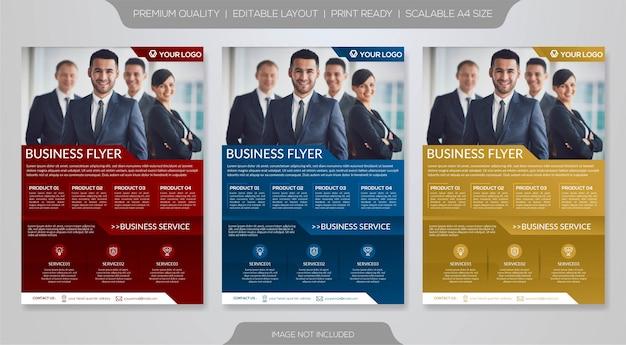 Reihe von business-flyer