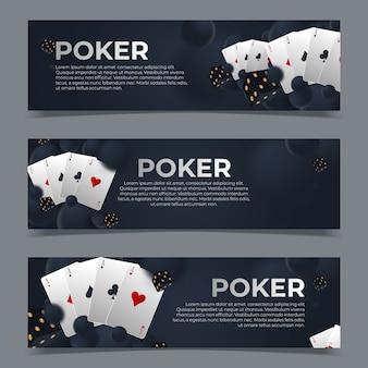 Reihe von casino-banner