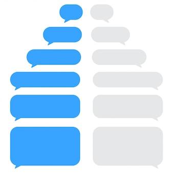 Reihe von chat-sprechblasen.