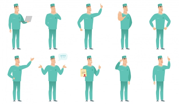 Reihe von chirurgen zeichen