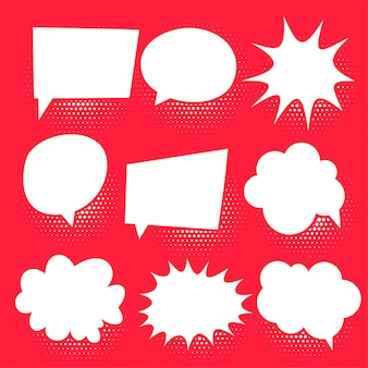 Reihe von comic-chat-blasen