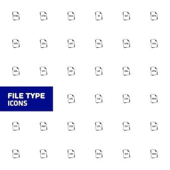 Reihe von dateiformaten icons vektor-illustration