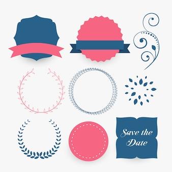Reihe von dekorativen designelementen