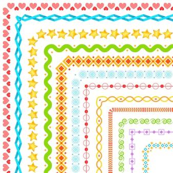 Reihe von dekorativen ecken