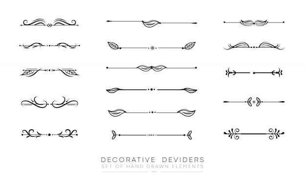 Reihe von dekorativen elementen