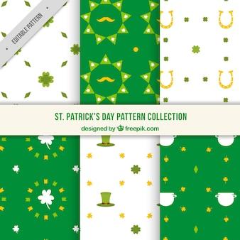 Reihe von dekorativen heiligen patrick tagesmuster