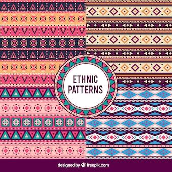 Reihe von dekorativen muster im ethno-stil