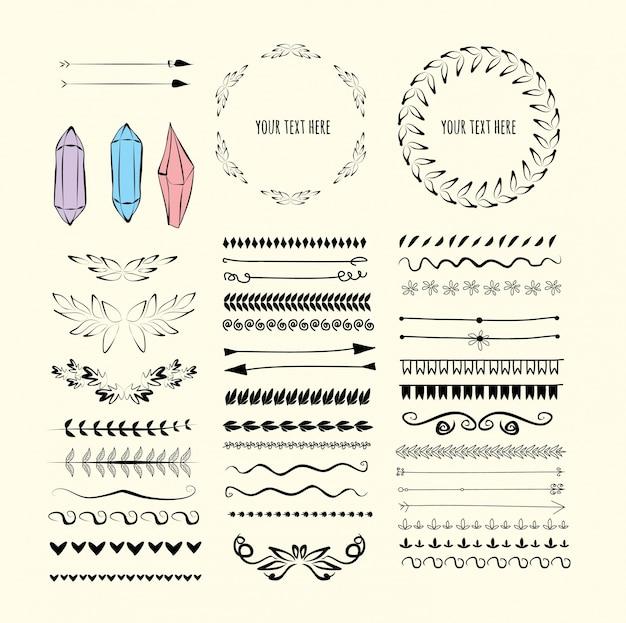 Reihe von designelementen