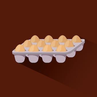 Reihe von eiern