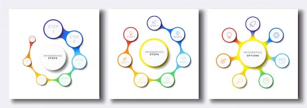 Reihe von einfachen infografik-vorlagen