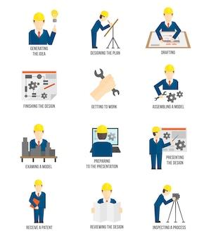 Reihe von engineer-zeichen