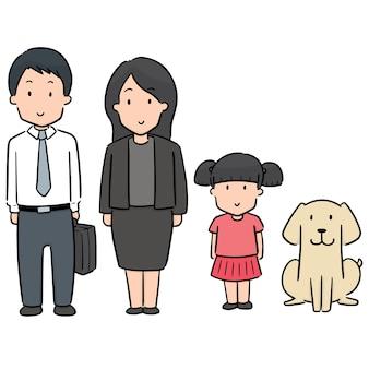 Reihe von familie